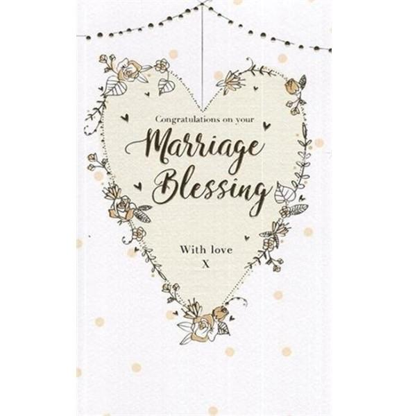 Congratulations On Your Marriage Blessing Wedding Card
