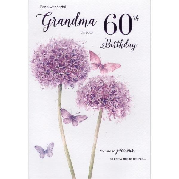 Birthday Card - Grandma 60th Card