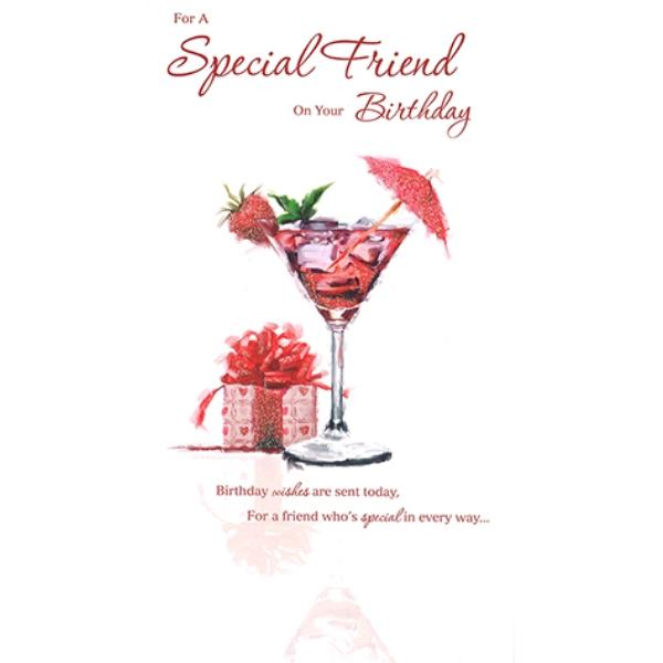 Special Friend Cocktails And Gifts Birthday Card