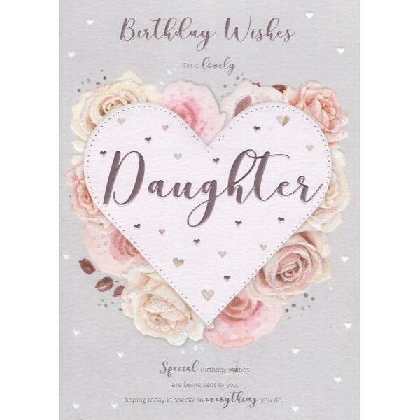 Birthday Card - Wishes Daughter Card
