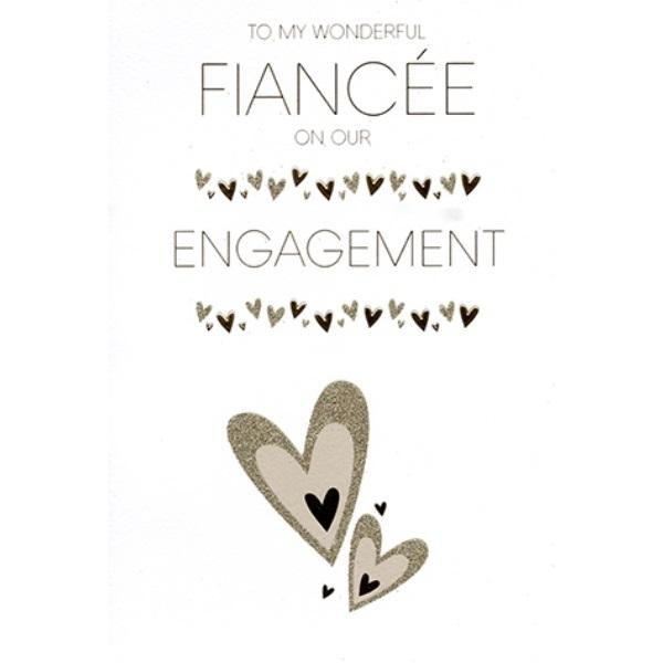 Wonderful Fiancée Engagement Card