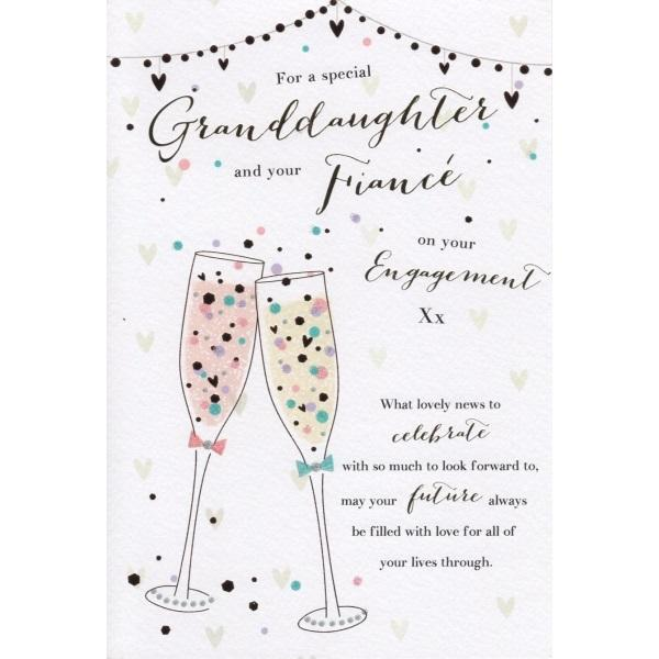 Lovely Granddaughter & Fiancée Engagement Card