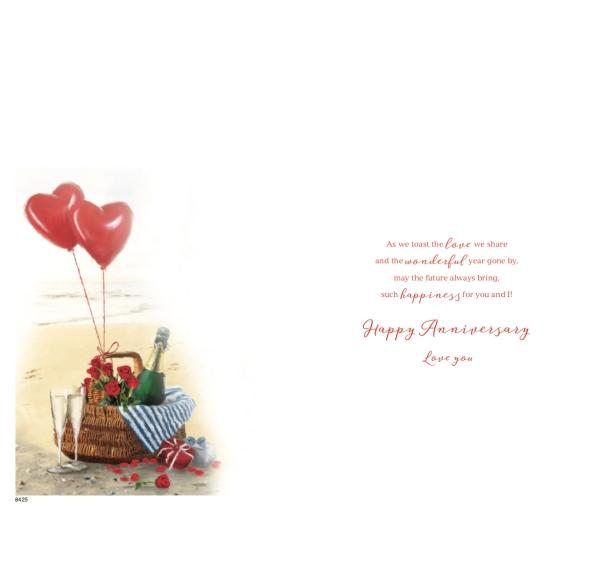 Romantic Beach Couple First Anniversary Card