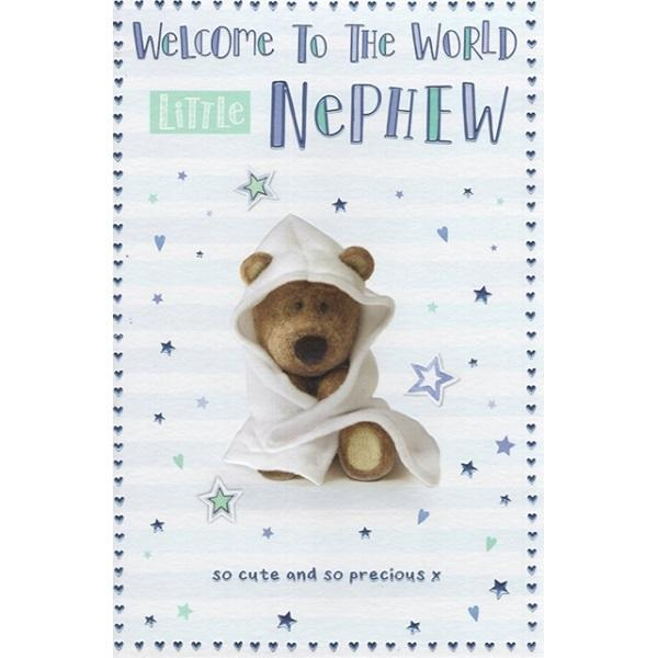 Welcome To The World Little Nephew Card