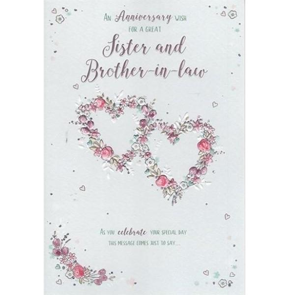 Great Sister & Brother-in-law Anniversary Card