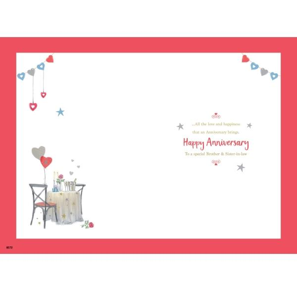 Brother & Sister-in-law Eiffel Tower Anniversary Card