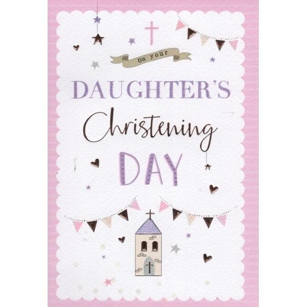 On Your Daughter's Christening Day Card