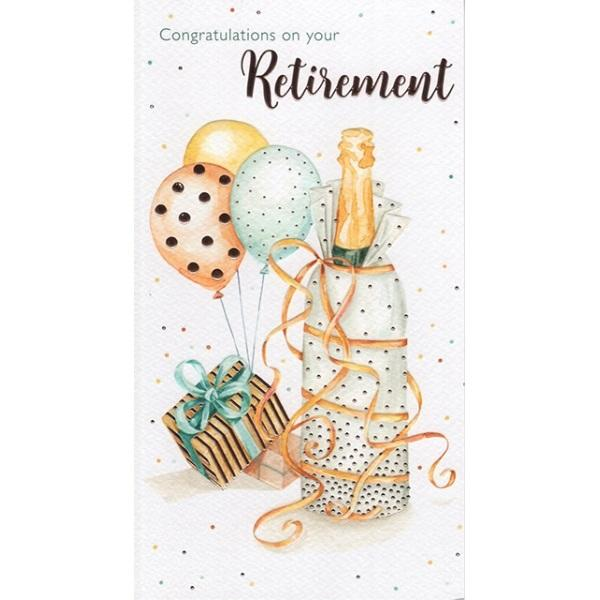 Congratulations On Your Retirement Champagne Card