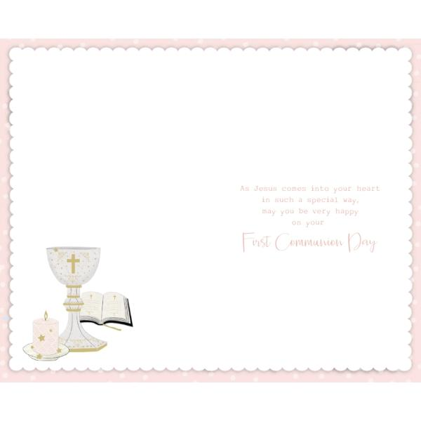On Your First Communion Stars & Candle Card