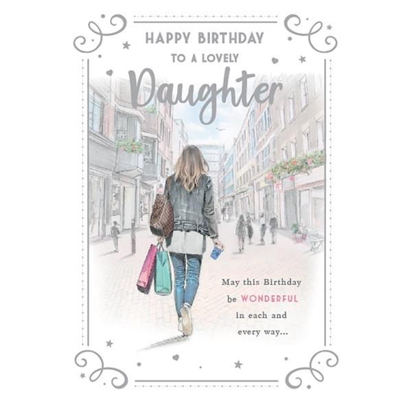 Birthday Card - Lovely Daughter Card