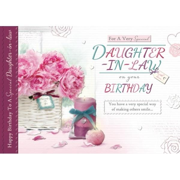 Birthday Card - For a very Special Daughter In Law