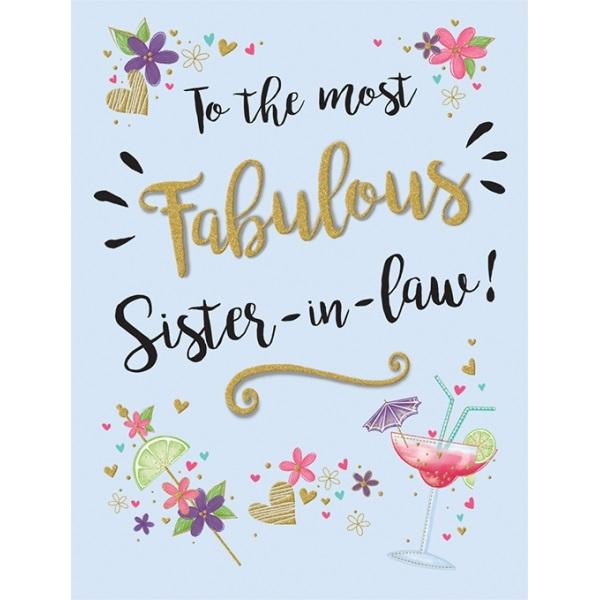 Birthday Card - Fabulous Sister in law