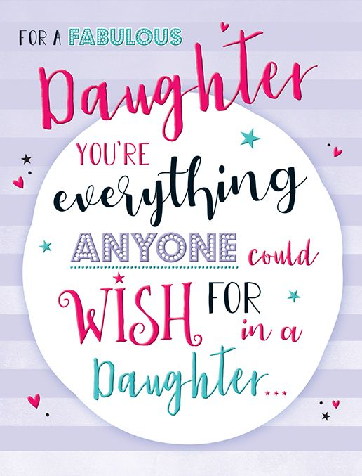 Birthday Card - Everything Daughter