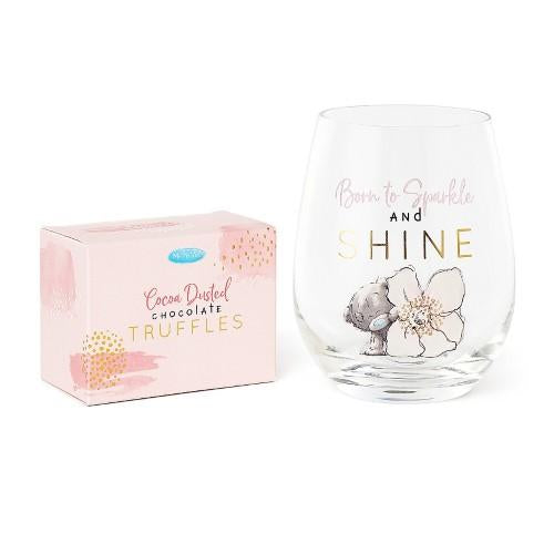 Me To You Stemless Wine Glass & Chocolate Truffles Gift Set