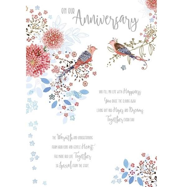 You Fill My Life With Happiness Anniversary Card