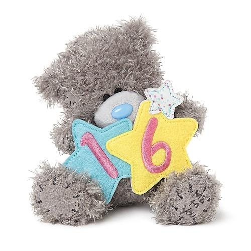 "7"" 16th Birthday Stars Me to You Bear"