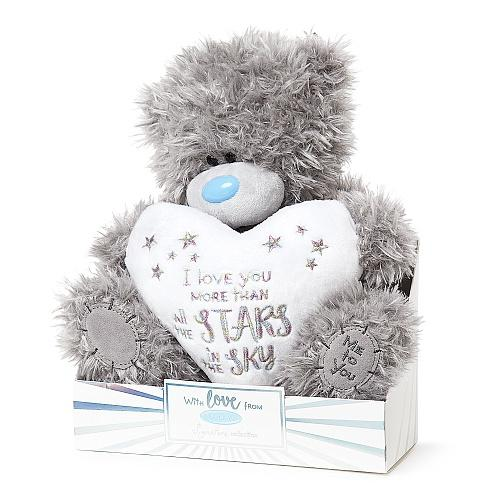 "9"" Love You More Than The Stars Padded Heart Me to You Plush Bear"