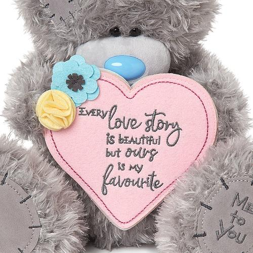 "12"" Love Story Padded Heart Me to You Bear"