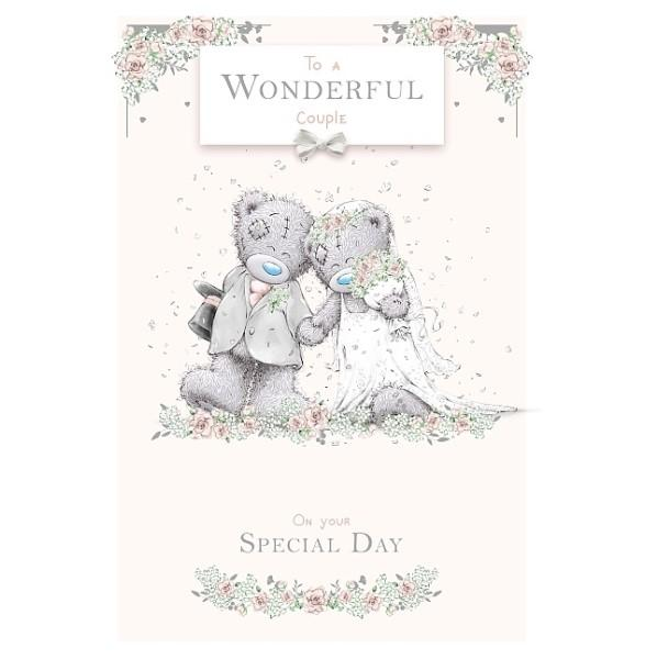 To A Wonderful Couple On Your Special Day Wedding Card