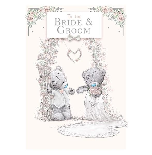 To The Bride And Groom Tatty Teddy Wedding Card