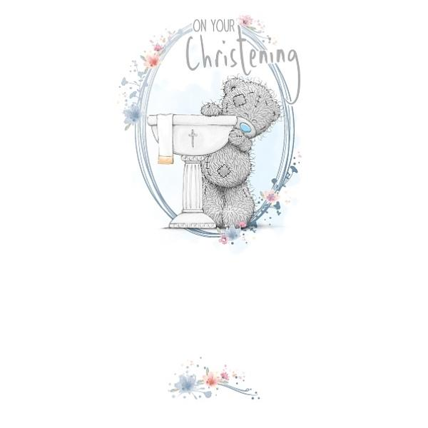 On Your Christening Tatty Teddy Christening Card