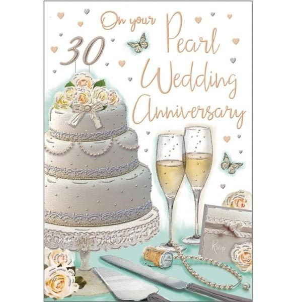 30th Pearl Anniversary Wedding Anniversary Card