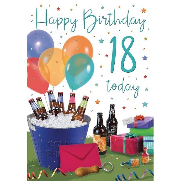 18th Birthday Card - Cold Drinks