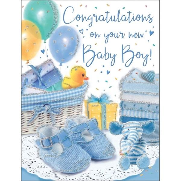 Congratulations On Your New Baby Boy Gifts Card