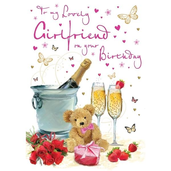 Birthday Card - Girlfriend on your Birthday