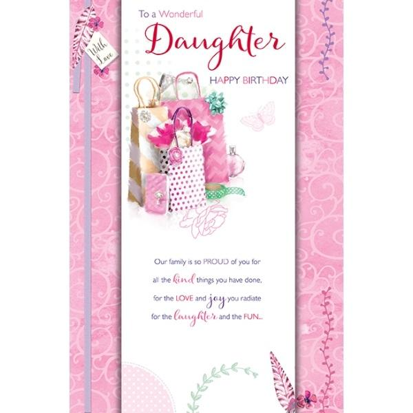Birthday Card - Daughter Pink Card Gifts