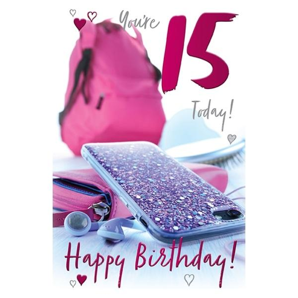 15th Birthday Card - You're 15 Today! Phone Case