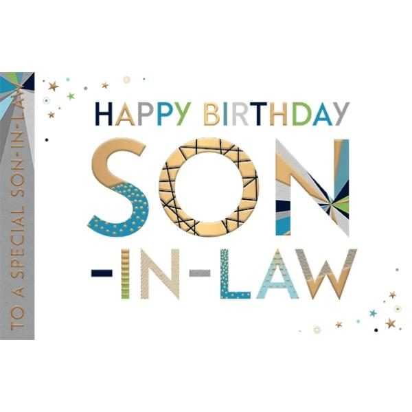Stars Son-in-law Birthday Card
