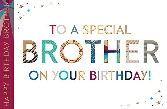 Stars Special Brother Birthday Card
