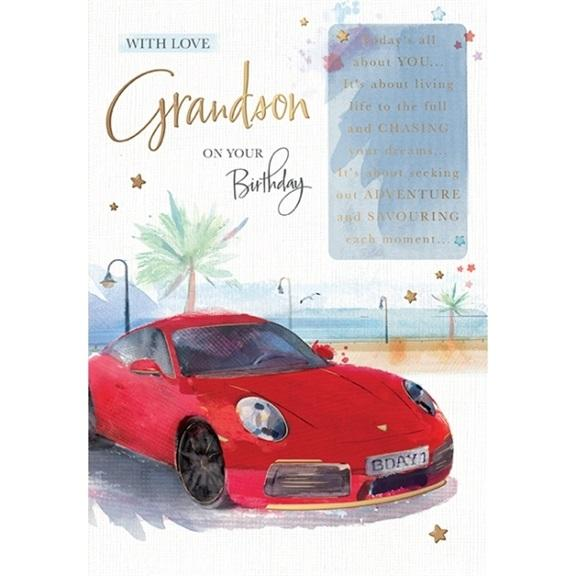 Car Grandson Birthday Card