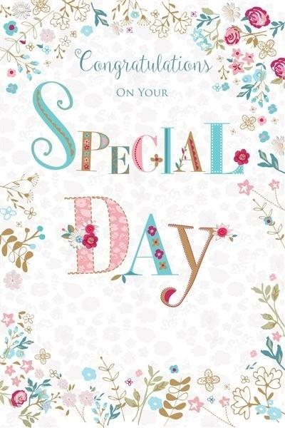Congratulations On Your Special Day Wedding Card