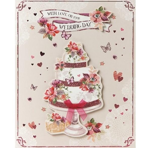With Love On Your Wedding Day Wedding Card