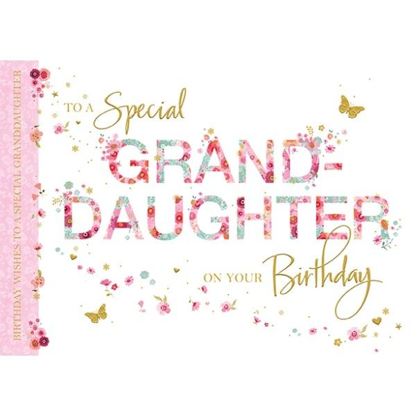Birthday Card - Granddaughter Wishes to a Special