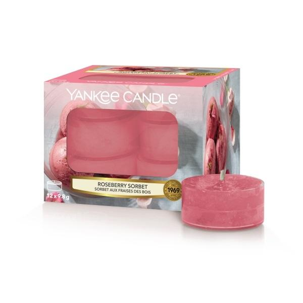 Yankee Candle Tea Light Roseberry Sorbet