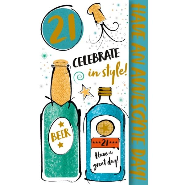 21st Birthday Card - Celebrate in Style!