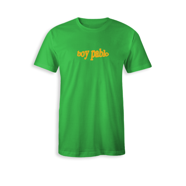 YELLOW LOGO GREEN T-SHIRT