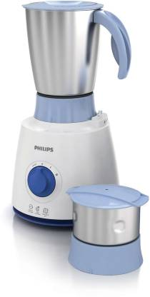 Philips HL7600 500 W Mixer Grinder  (White And Blue, 2 Jars) - Mahajan Electronics Online