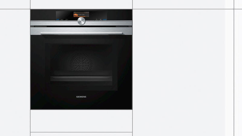 Siemens 60 cm 67 L Built in Stainless Steel Oven with Microwave HM676G0S1I (Steel/Black) - Mahajan Electronics Online
