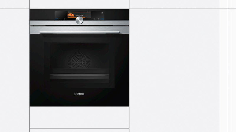 Siemens 60 Cm 67 L Built-in Stainless Steel Oven with Microwave and Steam function HN678G4S1I (Steel/Black) - Mahajan Electronics Online