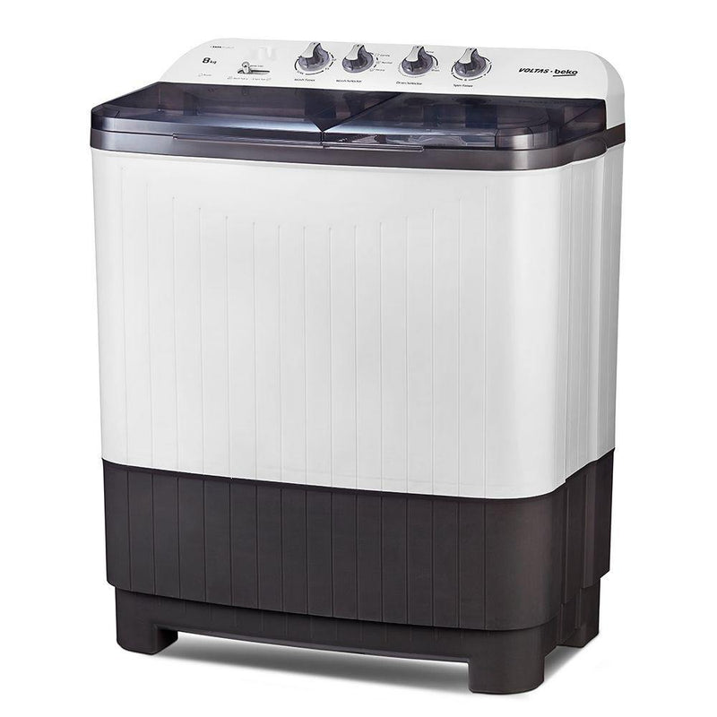 Voltas Beko 8 kg Semi Automatic Washing Machine (Burgundy) WTT80DGRT - Mahajan Electronics Online