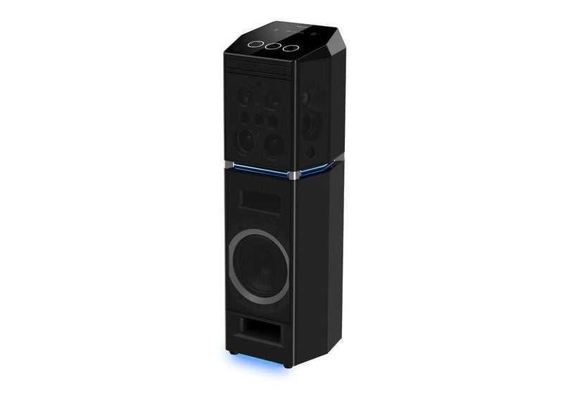 Panasonic SC-UA90GW-K Party Tower Speaker (2000W) RMS with 4GB Memory, CD Player & Karaoke (Black) - Mahajan Electronics Online