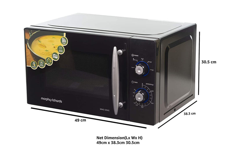 Morphy Richards 20 L Solo Microwave Oven (20 MS, Black) - Mahajan Electronics Online