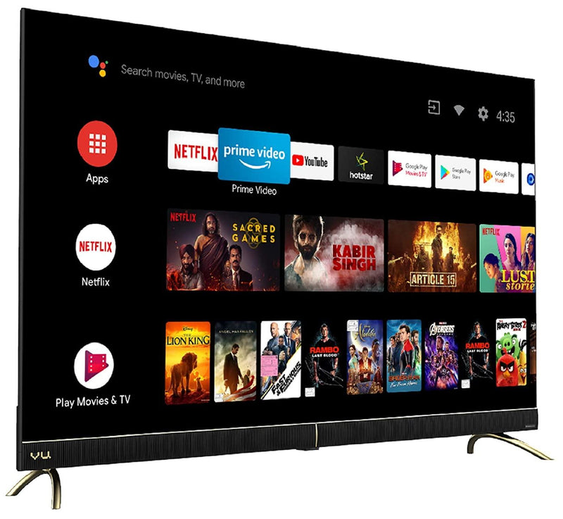 Vu 108 cm (43 inches) 4K Ultra HD Cinema Android Smart LED TV 43CA (Black) | With 40W Front Soundbar with 3 yrs warranty - Mahajan Electronics Online