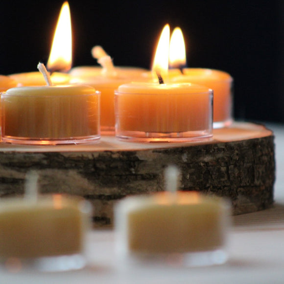 100% Pure Beeswax Tealights