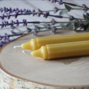 100% Pure Beeswax Taper Candles