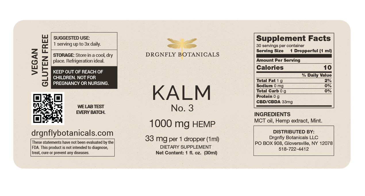 Drgnfly Kalm No. 3 - 1000 mg Hemp